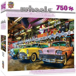Wheels Three Beauties Classic US Cars 750 piece jigsaw puzzle 610mm x 460mm  (mpc)